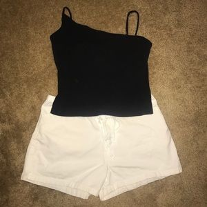 White, Cotton Shorty Shorts